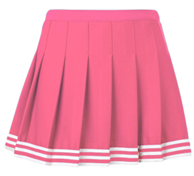 e17021 teamwork pink poise pleated cheer skirts