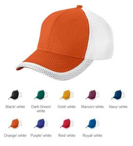 Augusta Youth Color Block Athletic Mesh Cap
