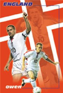 CLOSEOUT - ENGLAND Owen Soccer Posters