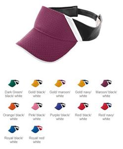 Augusta Youth Athletic Mesh & Dazzle Stripe Visor