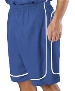 Alleson 548P Adult Mock Mesh Basketball Shorts C/O