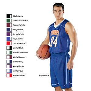 Alleson 548PY Youth Mock Mesh Basketball Shorts