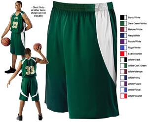 Alleson 556PY Youth Mock Mesh Basketball Shorts