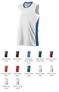 Augusta Youth Wicking Duo Knit Sleeveless Jersey