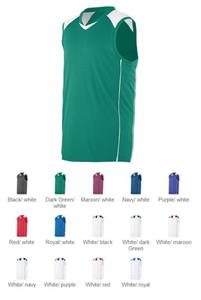 Youth Wicking Mesh/Dazzle Sleeveless Game Jersey