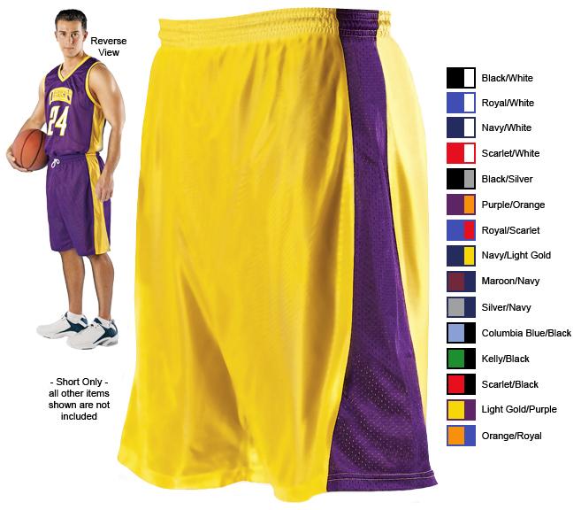 E17257 Alleson 549np Adult Reversible Basketball Shorts