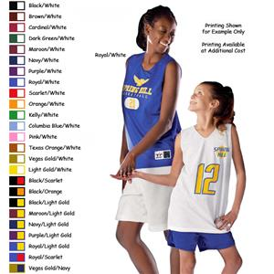 Alleson Women's Reversible Mesh Basketball Jerseys
