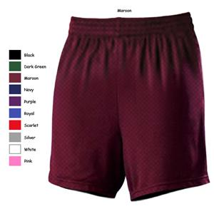 Alleson 564PWY Girl&#39;s Mesh Basketball Shorts