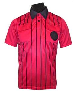 Official Soccer Referee Jerseys- SHORT-Sleeve -RED