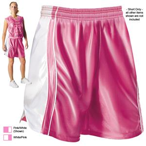 Alleson 547PW Womens Pink Dazzle Basketball Shorts