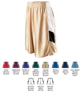 Womens Tri-Color Dazzle Game Basketball Short
