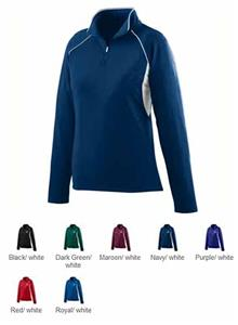 Augusta Womens Poly/Spandex Half-Zip Pullover