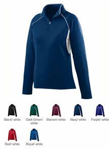 Augusta Womens Poly/Spandex Half-Zip Pullover