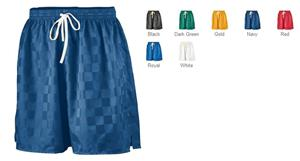 Augusta Long Checkerboard Nylon Soccer Short