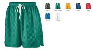 Augusta Long Checkerboard Nylon Youth Soccer Short
