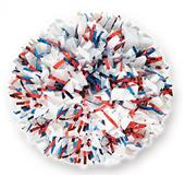 Solid Plastic w/2-Color Glitter Cheerleaders Poms