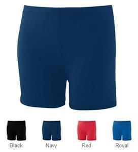 "Augusta Girls Poly/Spandex 4"" Short"