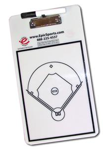 Epic Dry Erase Baseball Coaching Clipboard 2-Sided