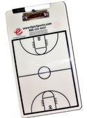 Dry Erase Basketball Coaching Clipboard 2-Sided