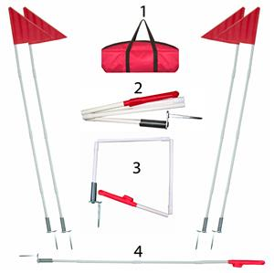 Folding Soccer Corner Flags (Set of 4) w/Carry Bag