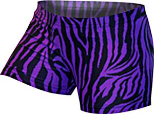 Gem Gear Compression Zebra Print Volleyball Shorts