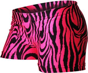 Gem Gear Compression Pink Zebra Print Shorts