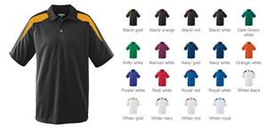 Adult Wicking Textured Color Block Sport Shirt