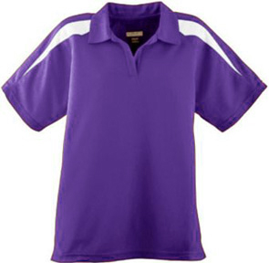 Ladies Wicking Textured Color Block Sport Shirt