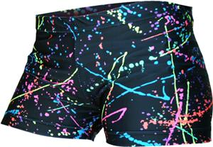 Gem Gear Compression Black Paint Splatter Shorts