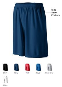 Adult Longer Length Wicking Short w/ Pockets