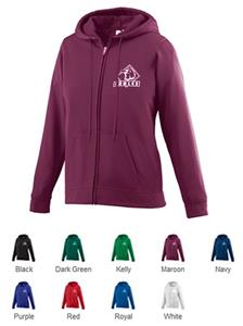 Ladies Wicking Fleece Full Zip Hooded Sweatshirt