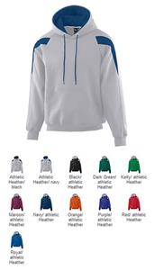 Augusta Heavyweight Color Block Hoodie Sweatshirt