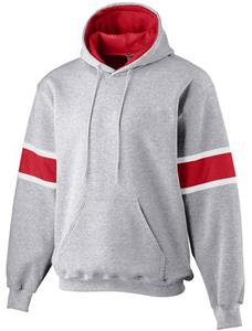 Augusta Heavyweight Three-Color Hooded Sweatshirt