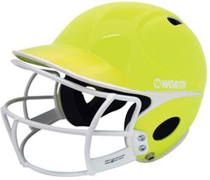 Worth Low Profile Batter's Helmets w/ Faceguard