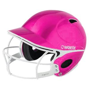 Worth Pink Youth Batters Helmet w/Faceguard