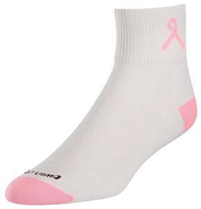 Breast Cancer Ribbon Quarter Socks (1-Pair)