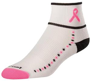 Twin City Cancer Ribbon Quarter II Socks