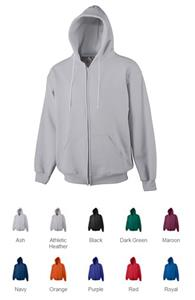 Augusta Heavyweight Zip Front Hooded Sweatshirt