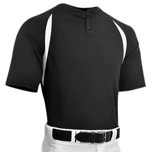 Captain 2 Adult Two Button Placket Baseball Jersey