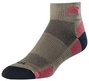 Twin City Topo Cross-Trainer Quarter Socks