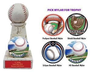 "Hasty Awards 6"" Baseball Stone Tower Award  Trophy"