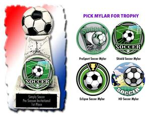 """Hasty Awards 6"""" Soccer Stone Tower Trophies"""