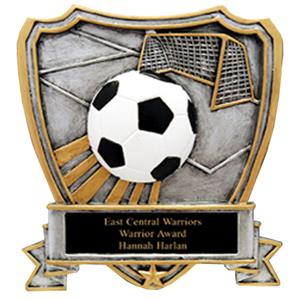Hasty Awards Soccer Shield Resin Trophys RESIN-SHS