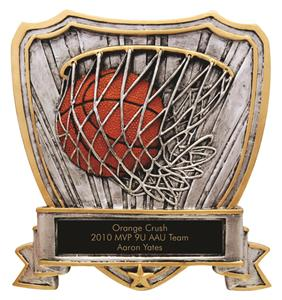 Basketball Shield Resin Trophies RESIN-SHB