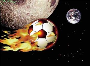 Asteroid Soccer Ball Soccer Greeting Cards