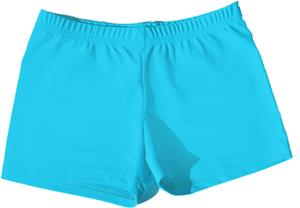 Neon Totally Turquoise Compression Shorts
