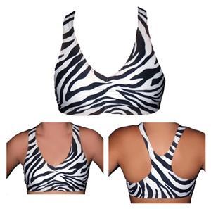 Funkadelic Zebra Safari Racerback Sports Bra