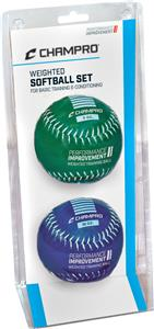 Champro Weighted Training Softballs-Basic Set