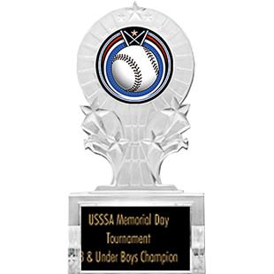 "Hasty Awards 7"" Baseball Shooting Star Ice Trophy"