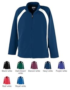 Augusta Double Knit Color Block Girls Jacket